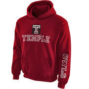 Youth New Agenda Garnet Temple Owls Hollow Straight Prep Hoodie
