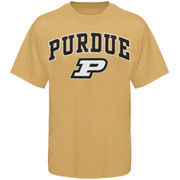 Men's New Agenda Gold Purdue Boilermakers Arch Over Logo T-Shirt