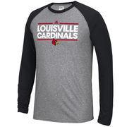 Men's adidas Dark Gray/Black Louisville Cardinals Ultimate Long Sleeve Raglan T-Shirt