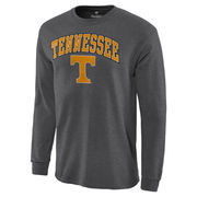 Men's Charcoal Tennessee Volunteers Campus Long Sleeve T-Shirt