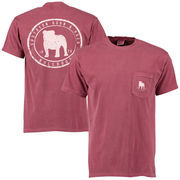 Men's Mississippi State Bulldogs Circle Silhouette Comfort Colors Pocket T-Shirt