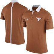 Men's Nike Burnt Orange Texas Longhorns Coaches Sideline Performance Polo