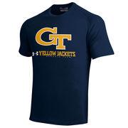 Georgia Tech Yellow Jackets Under Armour Logo Performance Tech T-Shirt - Navy Blue