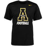 Men's Nike Black Appalachian State Mountaineers Legend Logo Performance T-Shirt