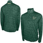Men's Green South Florida Bulls Defense 1/4 Zip Pullover Jacket