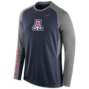 Nike Navy Arizona Wildcats 2015-2016 Elite Basketball Pre-Game Shootaround Long Sleeve Dri-FIT Top