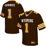 Men's Colosseum Brown Wyoming Cowboys Football Jersey