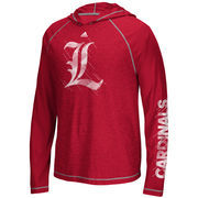 Men's adidas Red Louisville Cardinals Stealth Surface Utimate Long Sleeve Hooded Performance T-Shirt