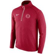 Men's Nike Crimson Harvard Crimson Football Coaches Sideline Half-Zip Tri-Blend Performance Knit Top