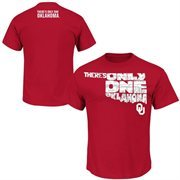 Men's Majestic Crimson Oklahoma Sooners 2015 There's Only One Oklahoma Student T-Shirt