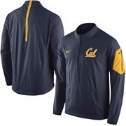 Men's Nike Navy Cal Bears 2015 Football Coaches Sideline Half-Zip Wind Jacket