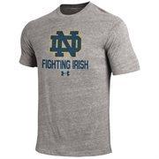 Mens Notre Dame Fighting Irish Under Armour Gray Legacy Tri-Blend T-Shirt