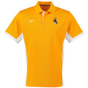Nike Gold Wyoming Cowboys Team Issue Performance Polo