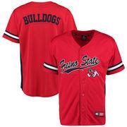 Men's Colosseum Red Fresno State Bulldogs Batter Up Baseball Jersey