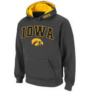 Men's Stadium Athletic Charcoal Iowa Hawkeyes Arch & Logo Pullover Hoodie