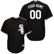 Men's Majestic Black Chicago White Sox Cool Base Custom Jersey