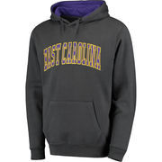 Men's Colosseum Charcoal East Carolina Pirates Arch Pullover Hoodie