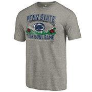 Men's Fanatics Branded Heather Gray Penn State Nittany Lions 2017 Rose Bowl Bound Prime Tri-Blend T-Shirt