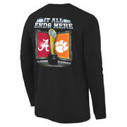 Men's Black Alabama Crimson Tide vs. Clemson Tigers 2016 College Football Playoff National Championship Game Dueling Under the L