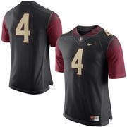 Men's Nike Black Florida State Seminoles No. 4 Limited Football Jersey