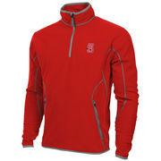 Mens NC State Wolfpack Antigua Red Ice Quarter-Zip Fleece Jacket