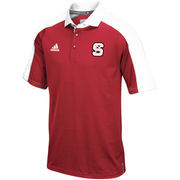 Men's adidas Red NC State Wolfpack 2016 Football Coaches Sideline Climalite Polo