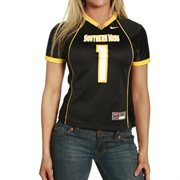 Nike Southern Miss Golden Eagles #1 Women's Black Replica Football Jersey