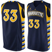Men's Nike #33 Navy Marquette Golden Eagles Replica Jersey