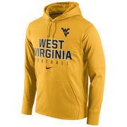 Men's Nike Gold West Virginia Mountaineers Circuit Football Pullover Performance Hoodie