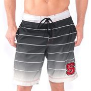 Men's Black NC State Wolfpack Backstop Boardshorts