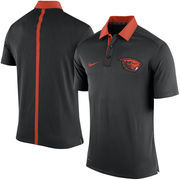 Men's Nike Black Oregon State Beavers Coaches Sideline Dri-FIT Polo