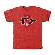 San Diego State Aztecs Classic Primary Tri-Blend T-Shirt - Scarlet