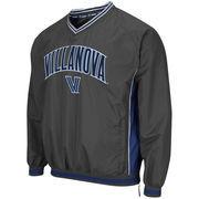 Men's Colosseum Charcoal Villanova Wildcats Fair Catch Pullover Jacket