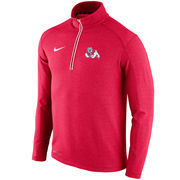 Men's Nike Red Fresno State Bulldogs Football Coaches Sideline Half-Zip Tri-Blend Performance Knit Top