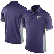 Men's Nike Purple Kansas State Wildcats Team Issue Performance Polo