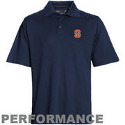 Mens Syracuse Orange Cutter & Buck Navy Blue DryTec Championship Polo