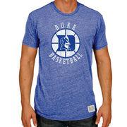 Men's Original Retro Brand Heather Royal Duke Blue Devils Basketball Vintage Tri-Blend T-Shirt