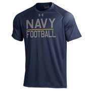 Men's Under Armour Navy Navy Midshipmen Army vs. Navy Football Tech Performance T-Shirt