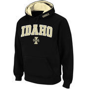 Men's Stadium Athletic Black Idaho Vandals Arch & Logo Pullover Hoodie