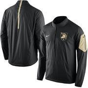 Men's Nike Black Army Black Knights 2015 Football Coaches Sideline Half-Zip Wind Jacket