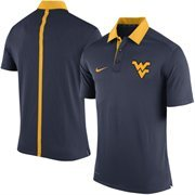 Men's Nike Navy Blue West Virginia Mountaineers Coaches Sideline Performance Polo