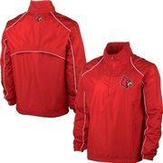 Mens Louisville Cardinals Red Quarter Zip Pullover Windbreaker