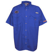 Florida Gators Columbia PFG Bonehead Short Sleeve Shirt - Royal