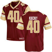 Men's Under Armour Luke Kuechly Maroon Boston College Eagles Replica Home Jersey