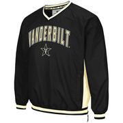 Men's Colosseum Black Vanderbilt Commodores Fair Catch Pullover Jacket