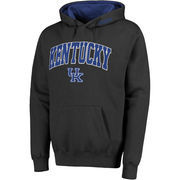 Men's Stadium Athletic Charcoal Kentucky Wildcats Arch & Logo Pullover Hoodie