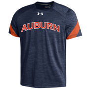 Men's Under Armour Navy Auburn Tigers 2016 Sideline Microstripe Performance T-Shirt