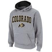 Men's Stadium Athletic Gray Colorado Buffaloes Arch & Logo Pullover Hoodie