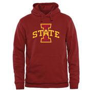Men's Cardinal Iowa State Cyclones Classic Primary Logo Pullover Hoodie Sweatshirt