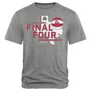 Men's Heathered Gray Oklahoma Sooners 2016 NCAA Men's Basketball Tournament Final Four Bound All State Tri-Blend T-Shirt